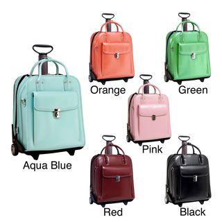McKlein Women's La Grange Leather Vertical Detachable Wheeled Briefcase | Overstock.com