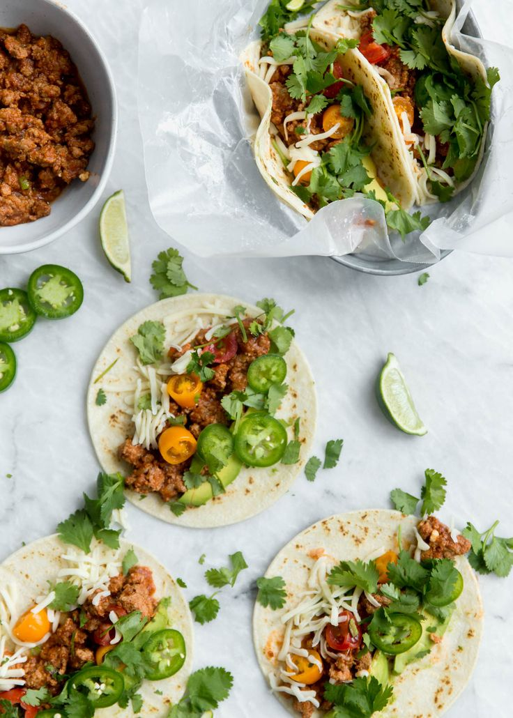 Amazing slow cooker turkey tacos