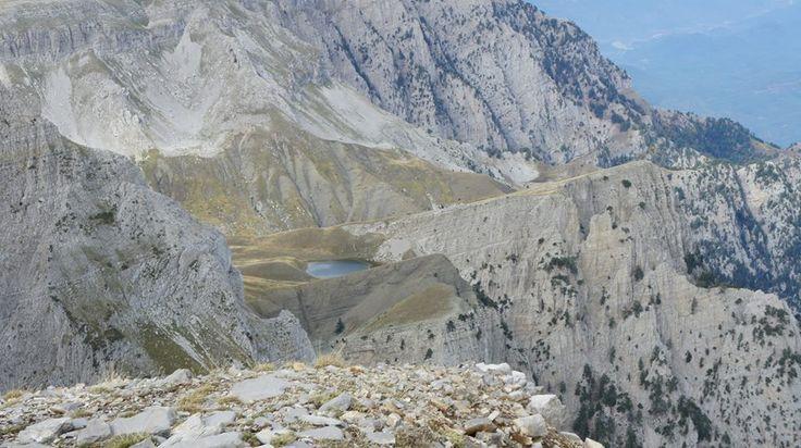 Alpine lake at Mount Tymfi, Epirus, Greece
