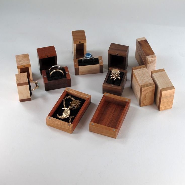 8 tiny boxes for rings jewelry 7 are ring boxes with 2