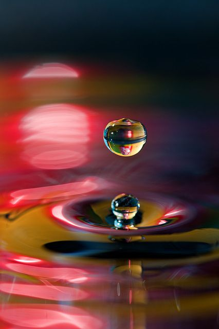 It's no oil painting ~ by mikerob_s on Flickr | High-speed photography ~Notice the reelection of the Coke can in the water drops. Cool.