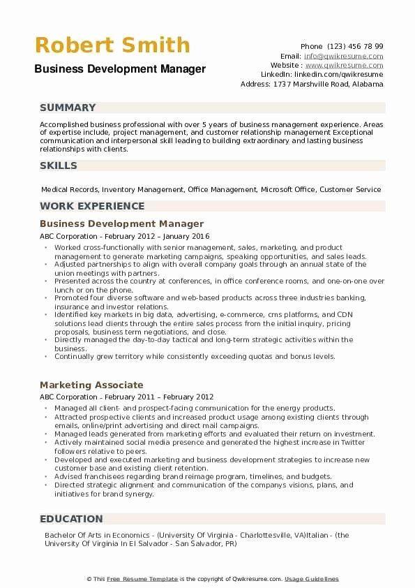Business Development Manager Resume Lovely Business Development Manager Resume Samples In 2020 Business Resume Manager Resume Business Development