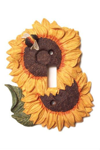 Sunflower Kitchen Decor Single Toggle Light Switch Plate Cover Wallplate