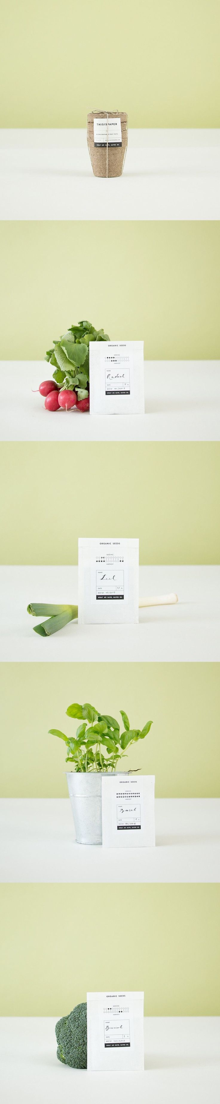 Organic Seed Packaging by ThisIsPaper → more on designvertise.com