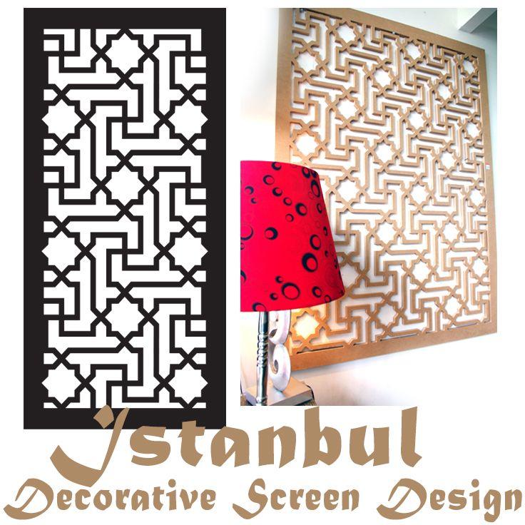 Laser cut decorative screen 'Istanbul' pattern by QAQ Decorative Screens & Panels, VIC.