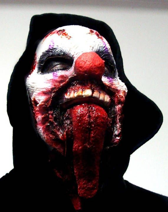 Clown Costume or Zombie Horror Themed Costume - Latex Prosthetic Makeup - pieces perfect for Halloween Costumes Can be used for zombie makeup or any type of horror themed production.  ITEM NAME: JAW DROP THE CLOWN  This is a two piece special fx latex prosthetic optical illusion piece. The tongue part is sculpted to fit onto the chin and then the top part goes over. You are able to eat, drink, talk etc with ease. See photos of the jaw/tongue part being applied. This is not a mask, it wil...