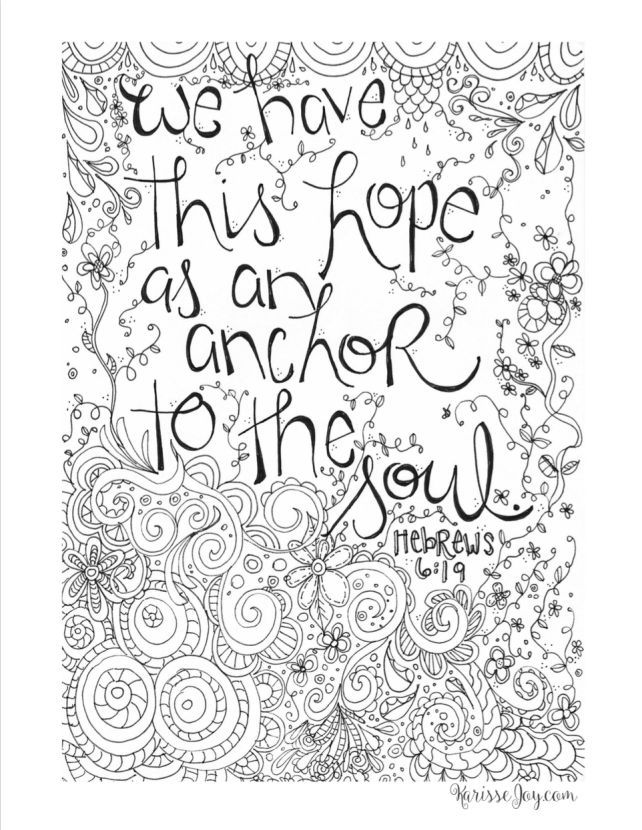 free inspirational coloring page