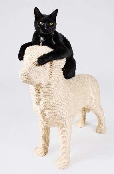 De DOG krabpaal voor katten is een nieuw ontwerp van Erik Stehmann.
