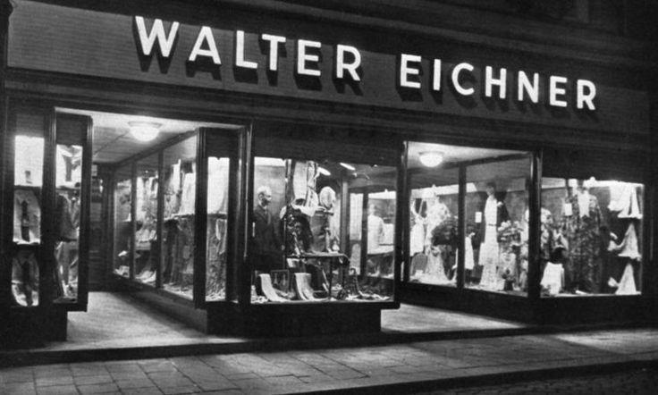 """""""Wir ham gar net gwusst, dass Sie a Jud sind"""": Bis 1938 hatte jüdisches Leben im Linz der Zwischenkriegszeit viele Facetten. Vom Kleiderhändler (Bild: Modegeschäft Eichner in der Linzer Klosterstraße 1) bis zum Kinobetreiber. Doch dann ging alles ganz rasch. Mehr dazu hier: http://www.nachrichten.at/oberoesterreich/Wir-ham-gar-net-gwusst-dass-Sie-a-Jud-sind;art4,1228475 (Foto: Privatsammlung Wagner/Stadtarchiv)"""