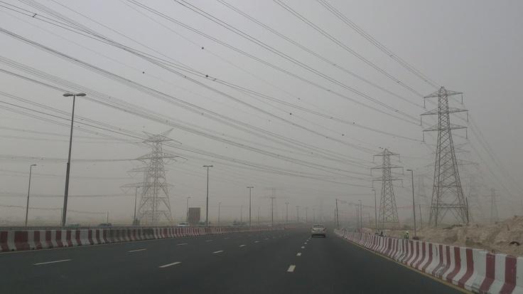 This morning's dust storm in Dubai.    http://megamondotravel.com