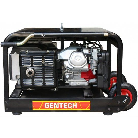 Honda 8 kVA Auto Start Generator by Gentech. This generator features remote start and automatic start capability. Designed for back up to off grid solar or backup to your home mains power, this generator comes with inbuilt 2 wire Smartgen controller to enable remote or automatic starting and stopping.