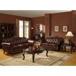 Williams Imports - Mahogany Top Grain & Split Leather Sofa Loveseat - 71000-SET  SPECIAL PRICE: $2,389.00