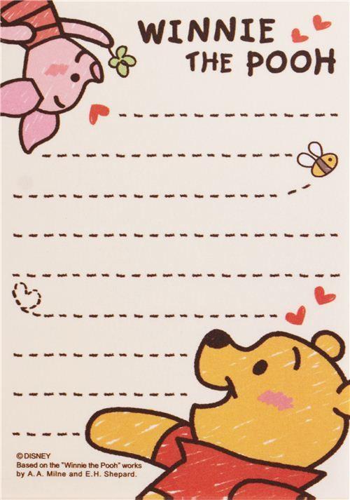 cute cream Winnie the Pooh Disney bear mini Note Pad from Japan  5