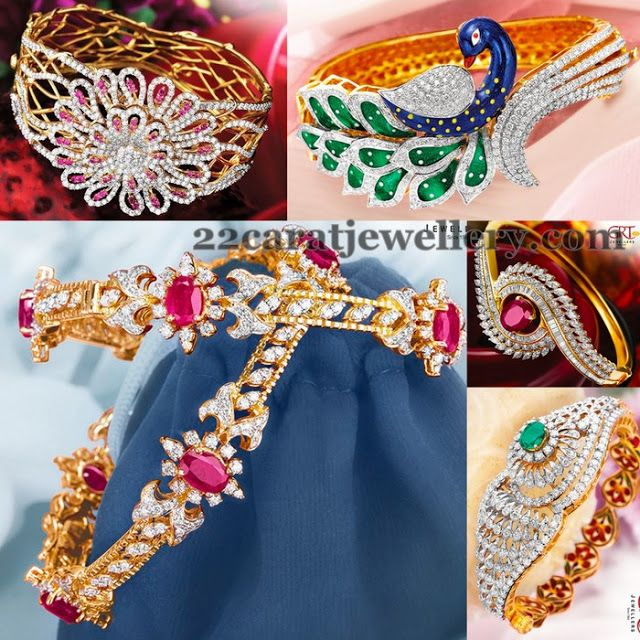 Jewellery Designs: Bracelet and Bangles by GRT Jewels
