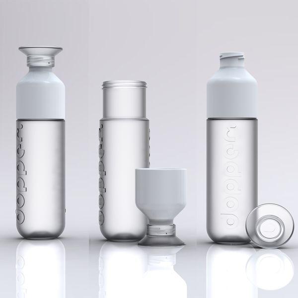 White Dopper water bottles