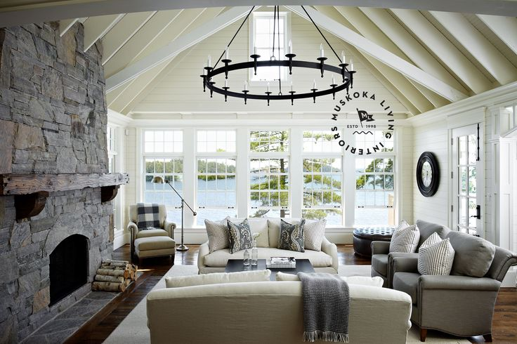 Perfect size family room new house furnishings decor for Vaulted living room