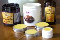 Homemade lip balm with amazing ingredients (I love coconut oil!) and liquid honey