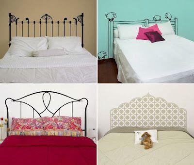 ► ► Mil ideas para la casa y el jardin ♥: Cabeceras de camas pintadas