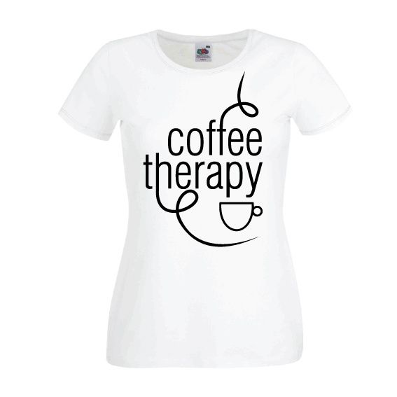 Dames | Lady-fit tshirt Coffee therapy (613820/780)