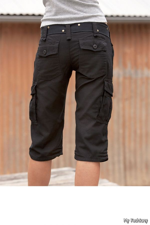 Brilliant Women39sLongCargoShorts  100cottonmultipocketCargoPants