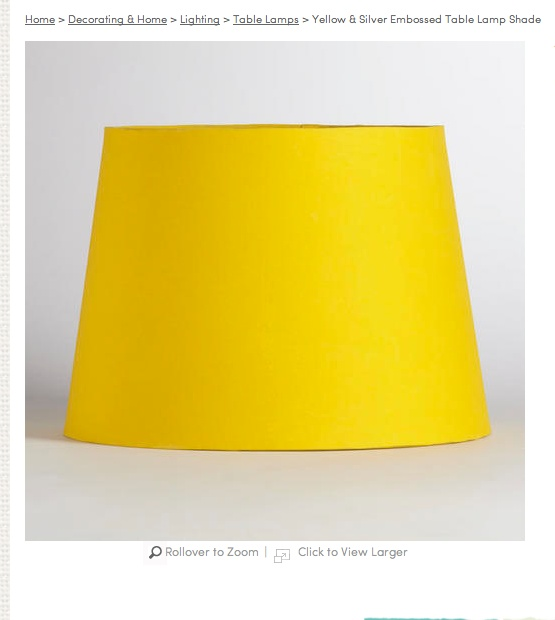 Yellow Lamp shade from World Market | bedroom dreams ...