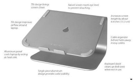 Rain Design mStand Laptop Stand www.luxvitrin.com