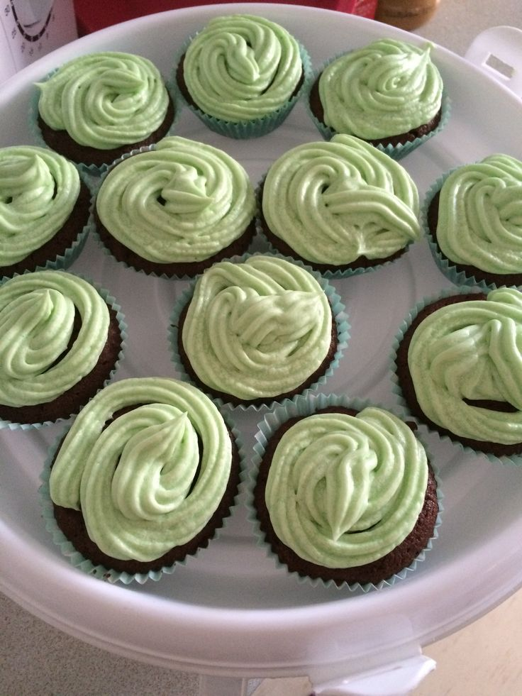 Mint chic chip cakes