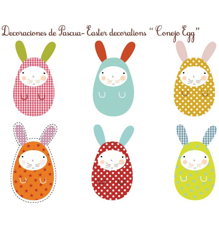 Conejitos de pascua gratis easter rabbit freebie kids for Manualidades para pascua