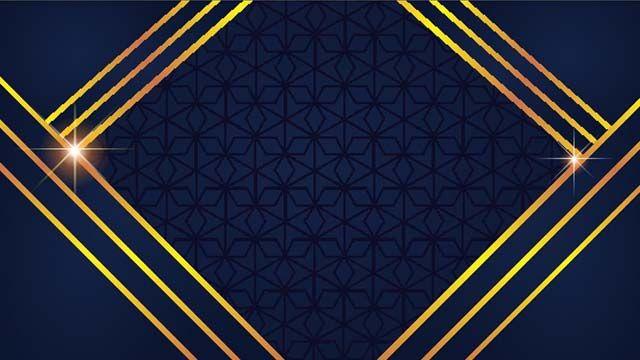 Blue Golden Luxury Background Free Vector Design Download