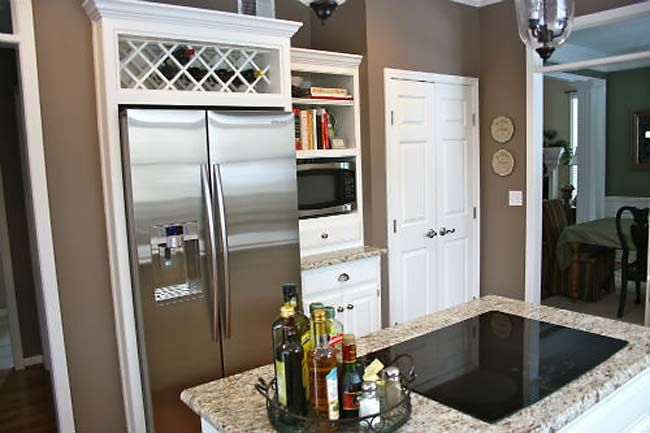 Kitchen Renovation with Giallo Ornamental Granite Countertops, Stainless Applicance, White Painted Cabinets