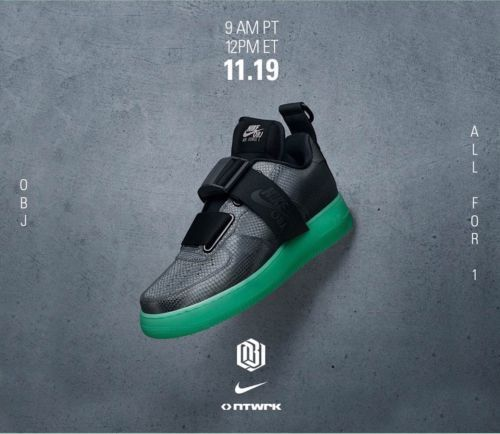3942316098fcdf Nike OBJ Odell Beckham Jr. Air Force 1 Utility QS Black Gray Green ...