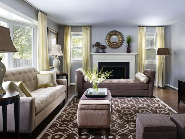 Transitional - Living Room Style Guide on HGTV