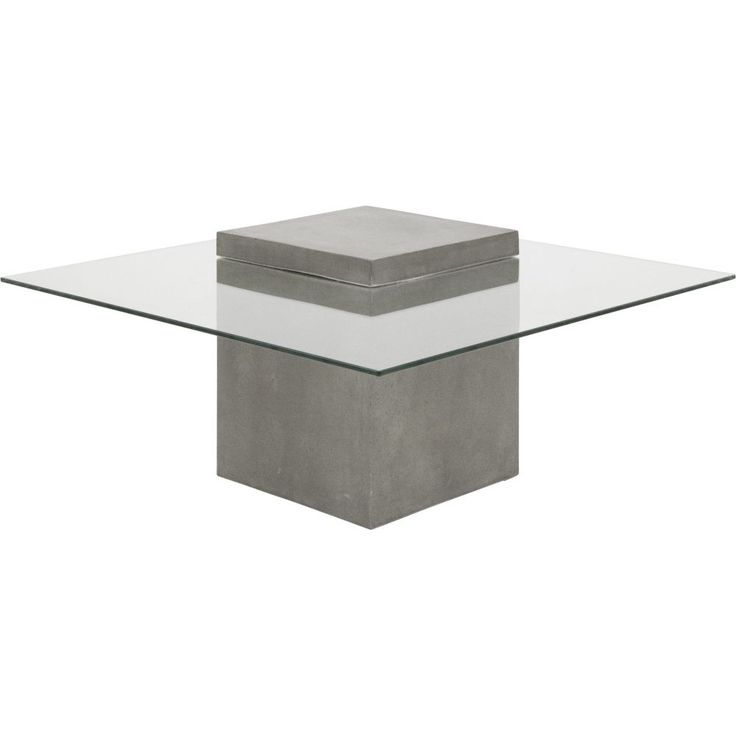 Avasha Concrete & Glass Industrial Coffee Table for Indoors & Outdoors / Buy it now at Schots Melbourne, Australia