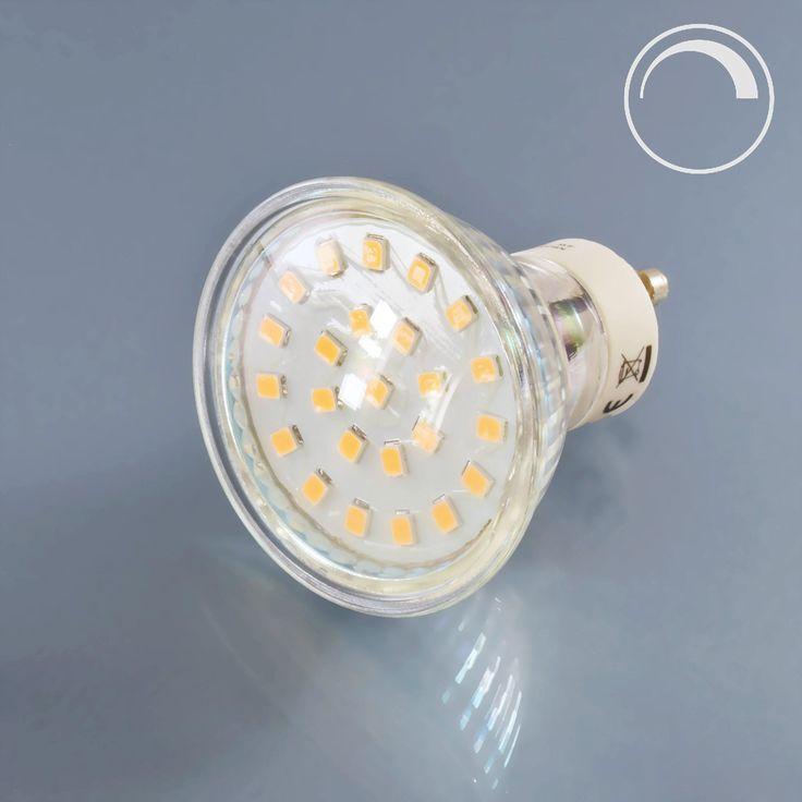 LED Spot-Lampe Glas 4 Watt dimmbar GU10 230V