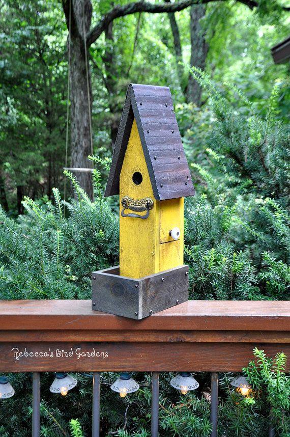 Rustic Birdhouse Quot The Garden House Quot Bird Houses Cool