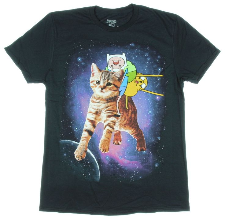 Adventure Time Finn & Jake & Cat Men's T-Shirt #AdventureTime #GraphicTee