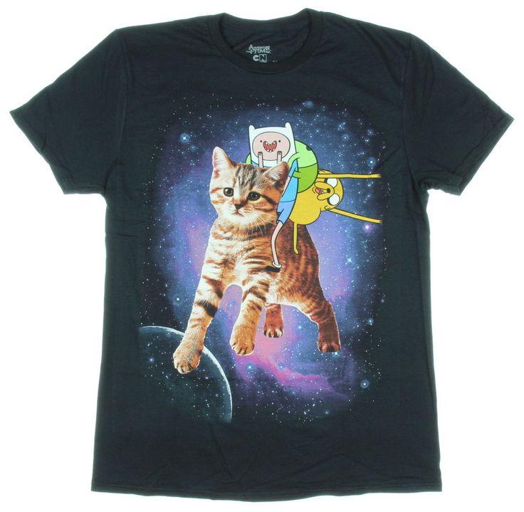 Adventure Time Finn & Jake & Cat Men's T-Shirt #AdventureTime #GraphicTee