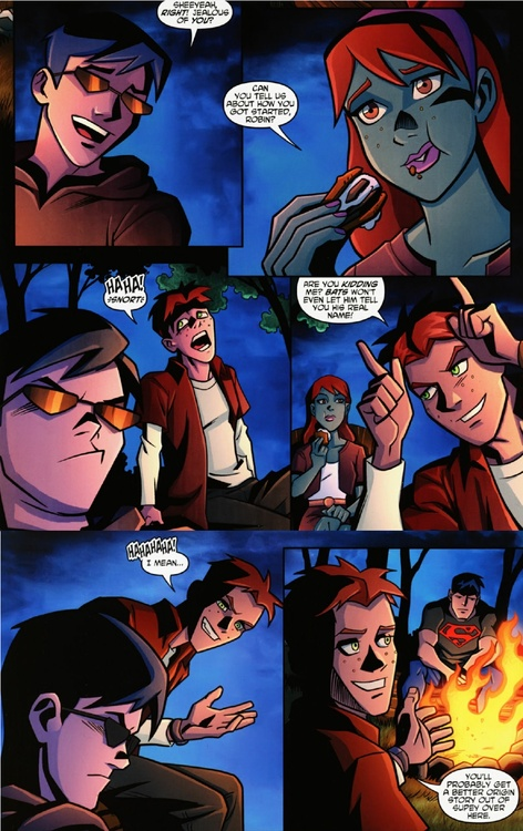 Dick Grayson, Megan Morse, Wally West ~ Young Justice
