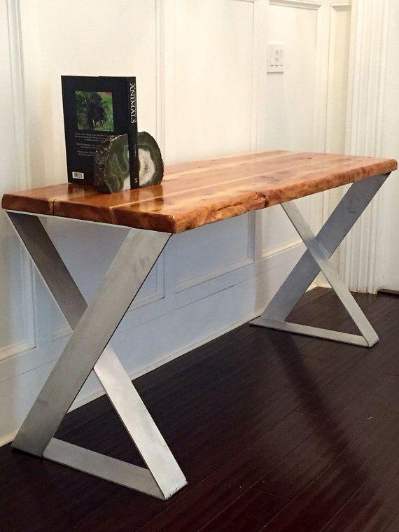 SALE Wood Desk with Reclaimed Wood Top Designer by UmbuzoRustic - Best 25+ Reclaimed Wood Desk Ideas On Pinterest L Desk, Rustic