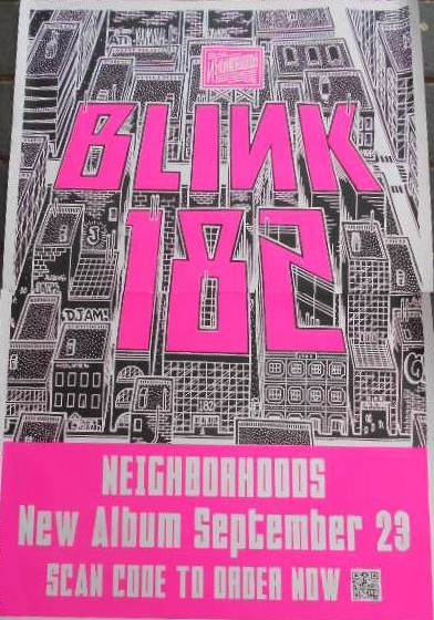 "Blink 182 ""Neighborhoods""  Buy Now...it's just a click away!"