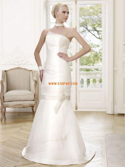 Pánt nélküli Klasszikus és időtálló Nyár Menyasszonyi ruhák 2014