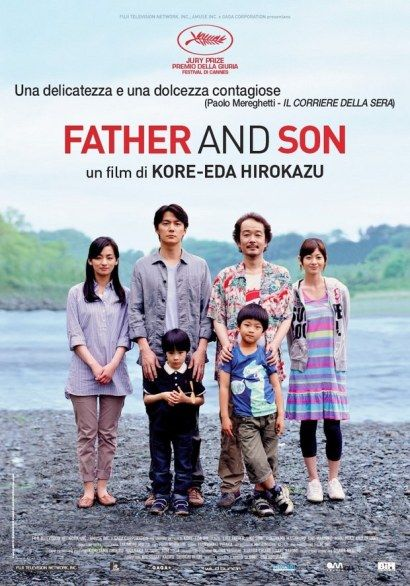 """Hirokazu KOREEDA, """"Father and Son"""", Giappone 2013 Masaharu Fukuyama, Yôko Maki, Jun Kunimura, Machiko Ono, Kirin Kiki Legami e la dimostrazione che anche chi non ha ricevuto affetto, ne può dare molto."""