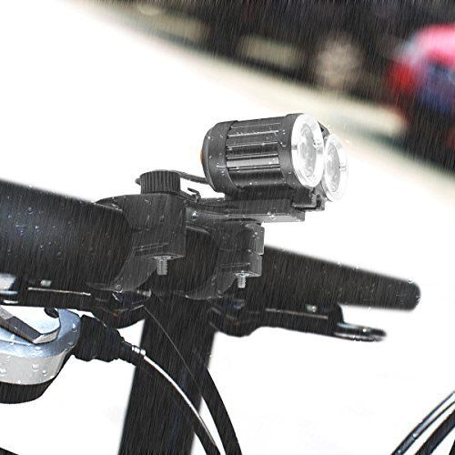 LED Phare de Bicyclette Multifonction Lampe Torche Avant de Vélo Light Etanche Lampe Torche pour Mountain Vélos avec Feu Arrière VTT VTC…