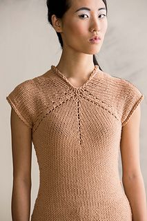 Six Point Tee by Cathy Carron, knit.wear, spring/summer 2014. I am really digging the shaping on this.