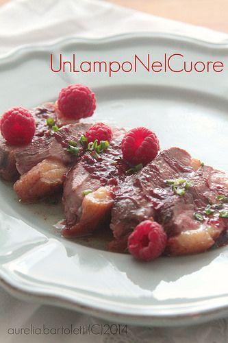 Petto d'anatra al marsala e salsa di lamponi2 by Profumi in cucina, via Flickr