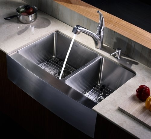 Kraus Khf203 33 Kpf2170 Sd20 Farmhouse Double Bowl Kitchen: 57 Best Kitchen Sinks Images On Pinterest