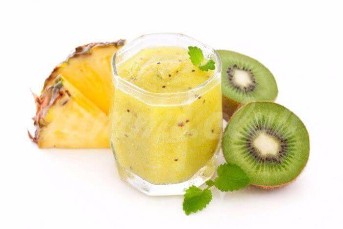 Смузи из ананаса, киви, огурца и лимона ~ Домашние рецепты