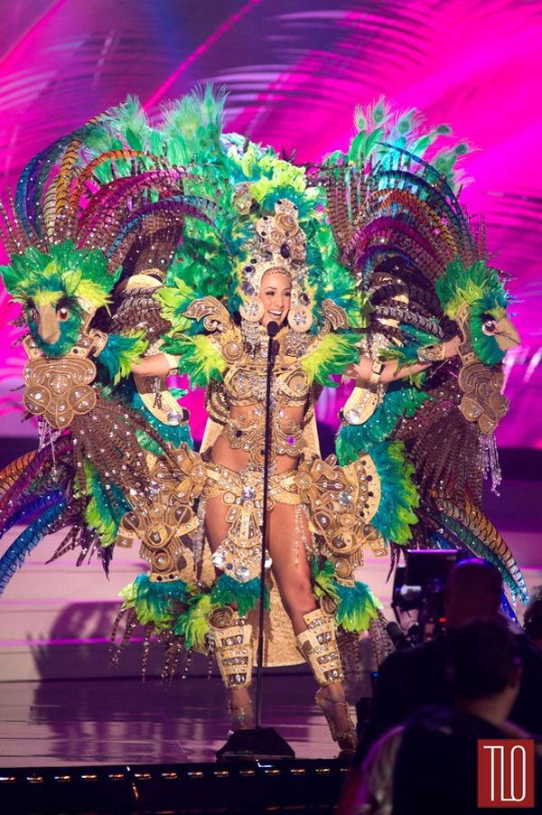 Miss Universe National Costumes 2014, Part 1: Bird Women & Show Girls! | Tom & Lorenzo Fabulous & Opinionated / Miss Nicaragua