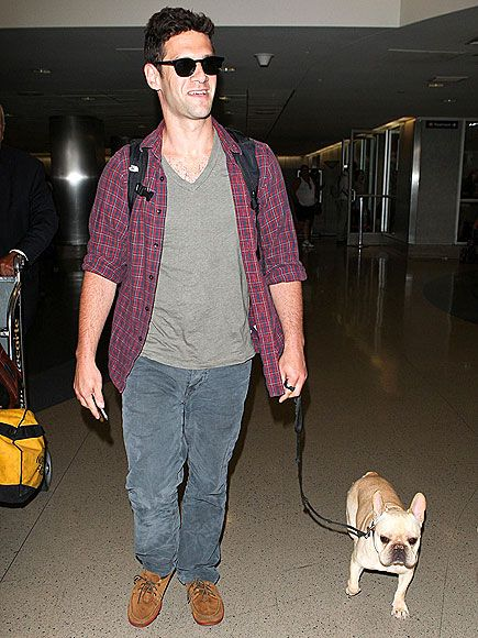 Photo of Justin Bartha & his  Dog