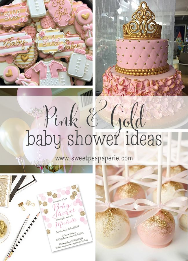 The Best Images About Pink And Gold Baby Shower Theme Ideas On, Baby Shower